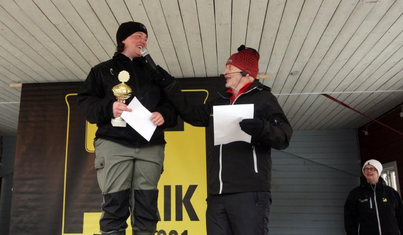 Susanne Åkerlund, Junsele, vann damtävlingen och 5 000 kronor.
